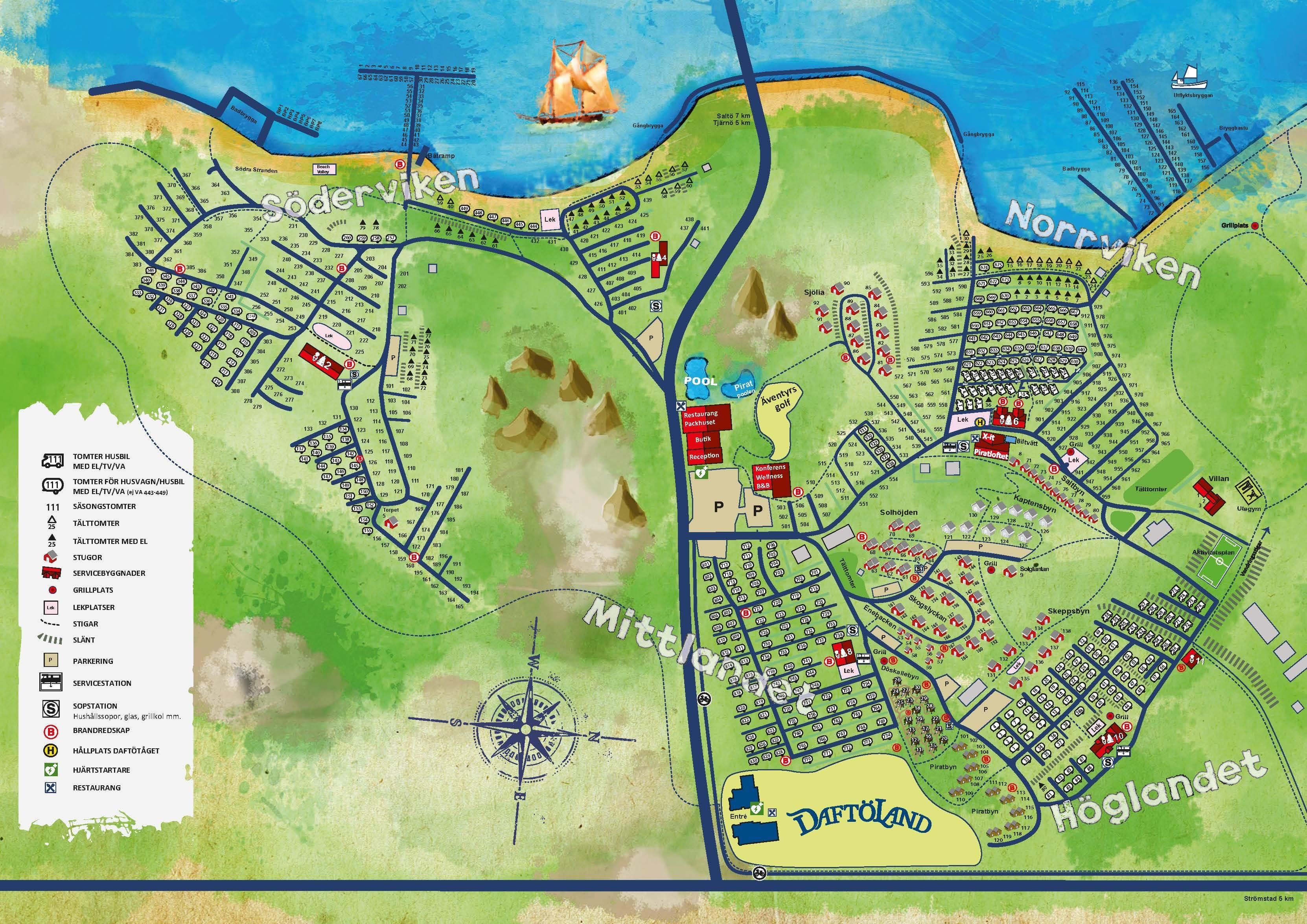 Karta Vastkusten Bohuslan.Boende Pa Dafto Resort I Stromstad Nara Havet